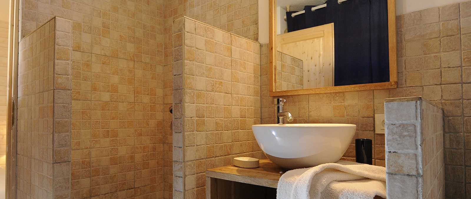 Bathroom with shower Écume Villa naturist rental