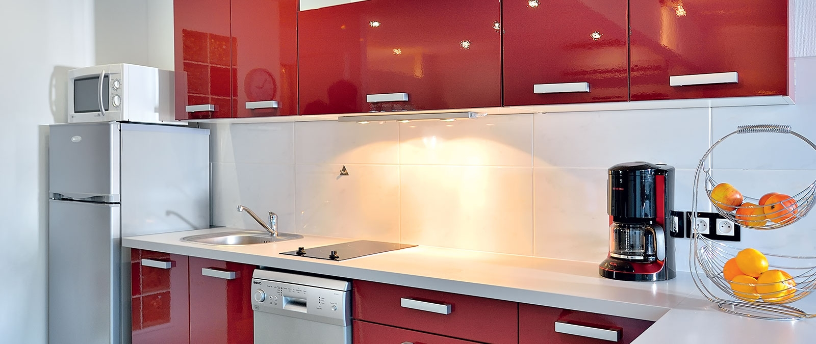 Equipped kitchen Paradis libertine stay