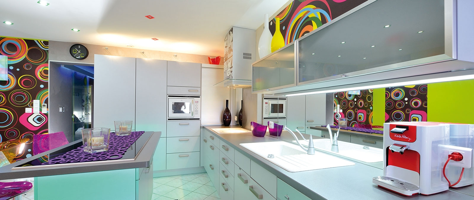 Pop naturist villa equipped kitchen