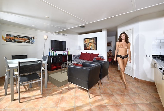 Lounge naturist apartment for rent