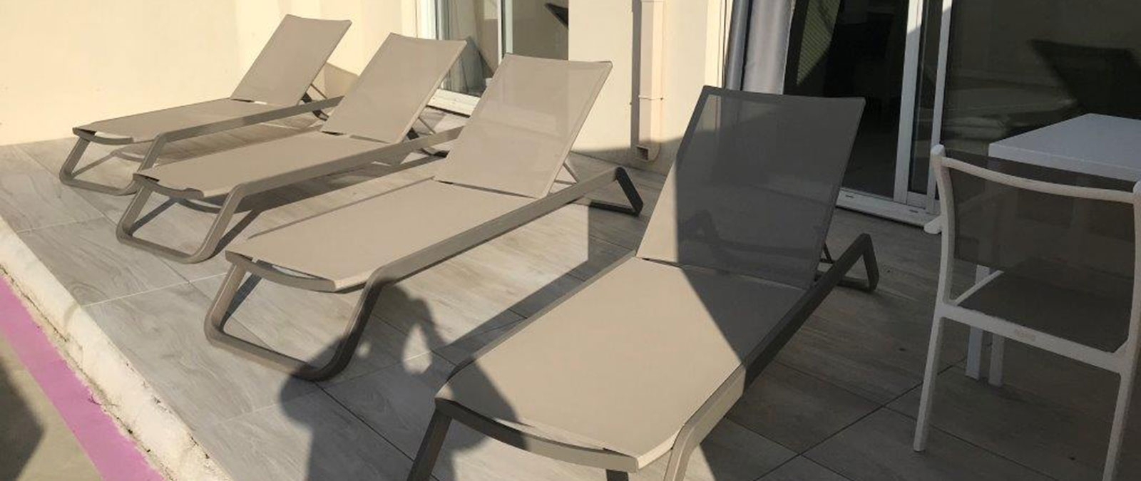 Terrace naturist suite at Jardin d'Eden